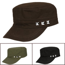 Load image into Gallery viewer, Adjustable Classic Plain Vintage Army Military Cadet  Cotton Cap Rivets Hat