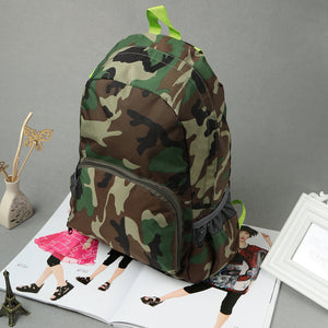 New Men Backpack Camouflage Print School Student Travel Bag Teenager Casual Shoulder Bag Green