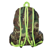 Load image into Gallery viewer, New Men Backpack Camouflage Print School Student Travel Bag Teenager Casual Shoulder Bag Green