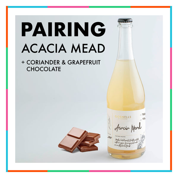 Acacia Mead + Coriander and Grapefruit Chocolate
