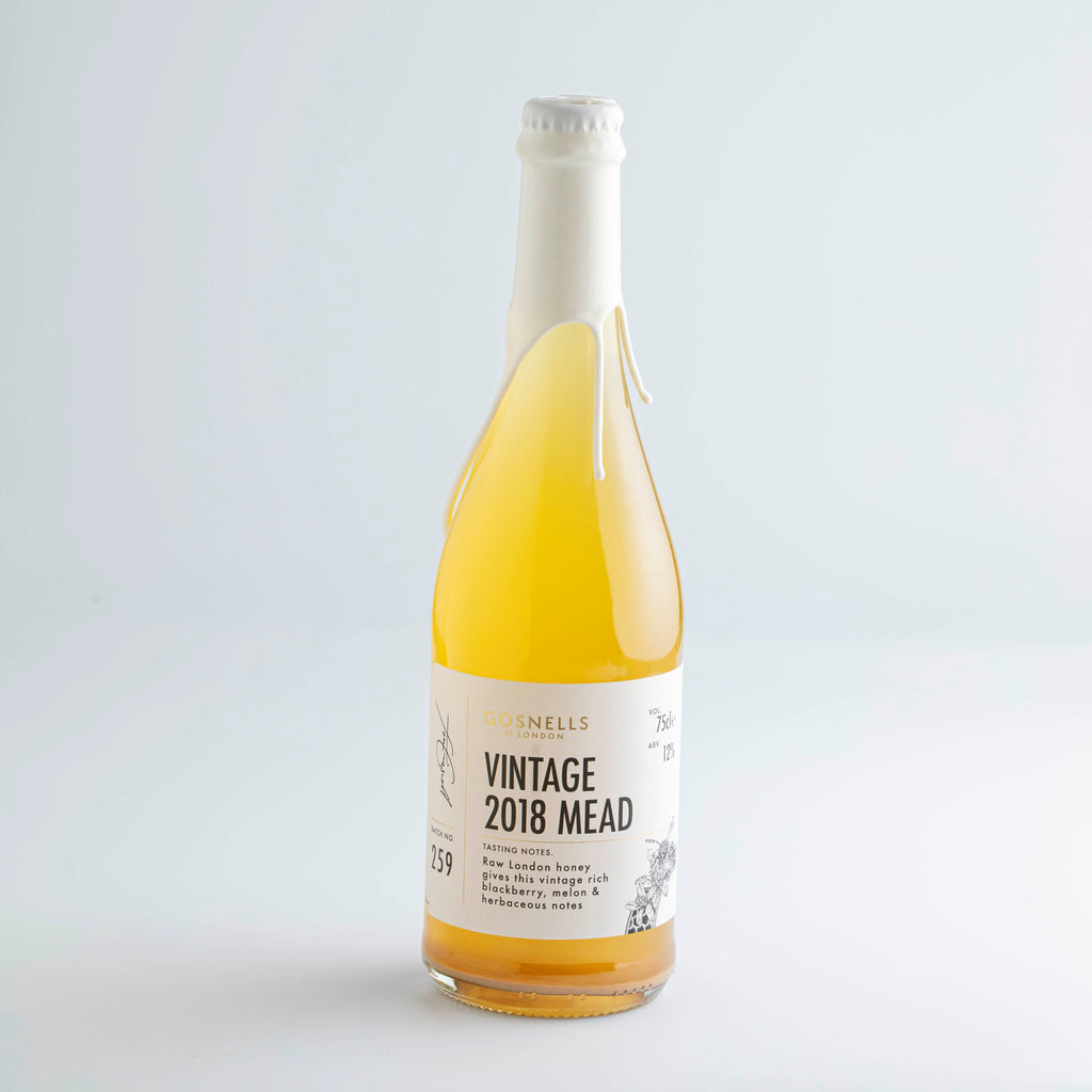 Bottle of Gosnells of London Vintage 2018 Mead.