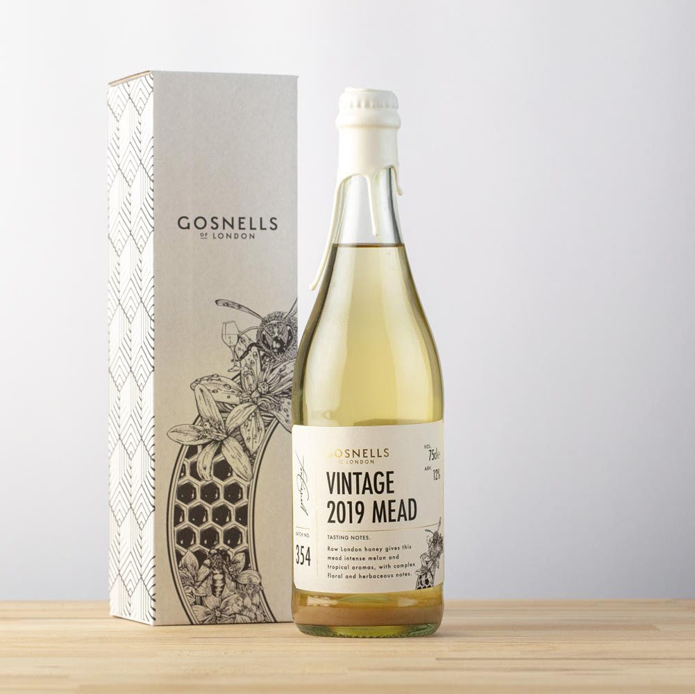 Bottle of Gosnells of London Vintage 2019 Mead.