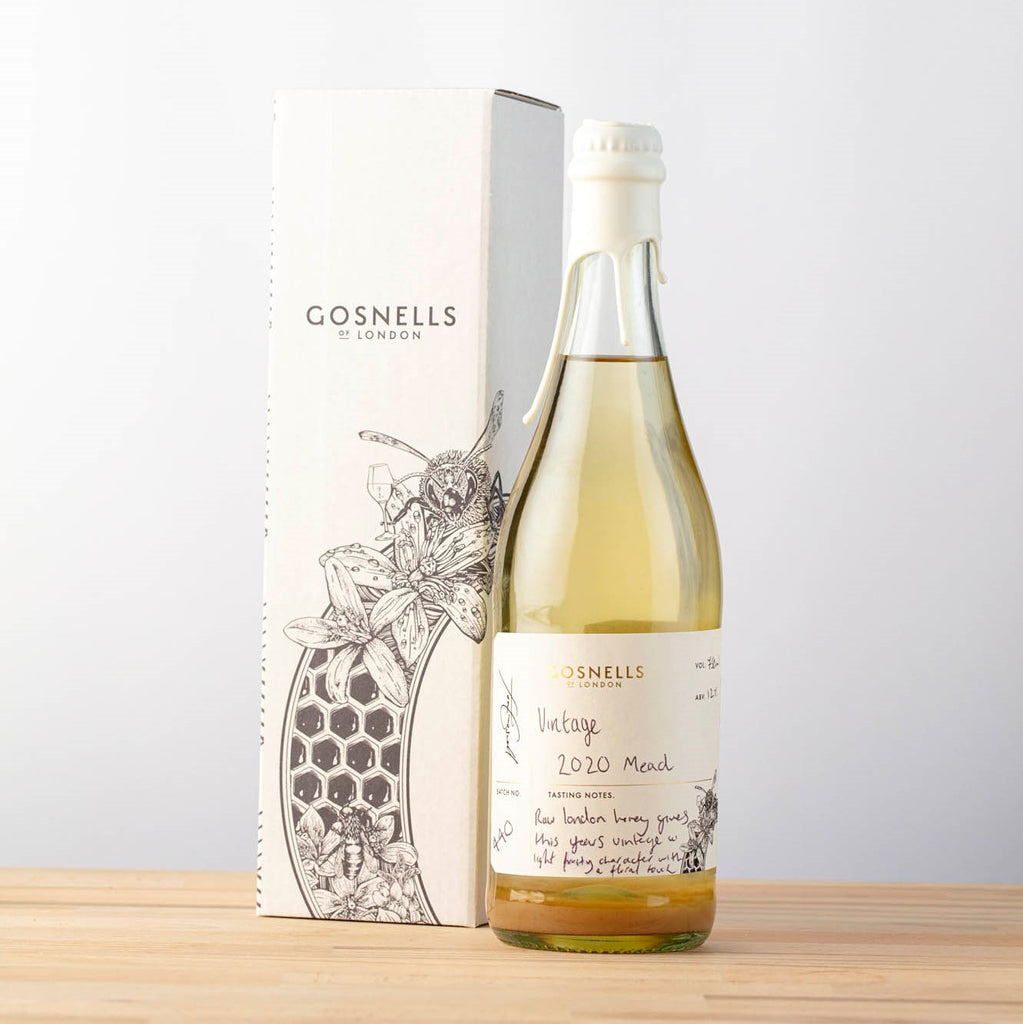 Bottle of Gosnells of London Vintage 2020 Mead.