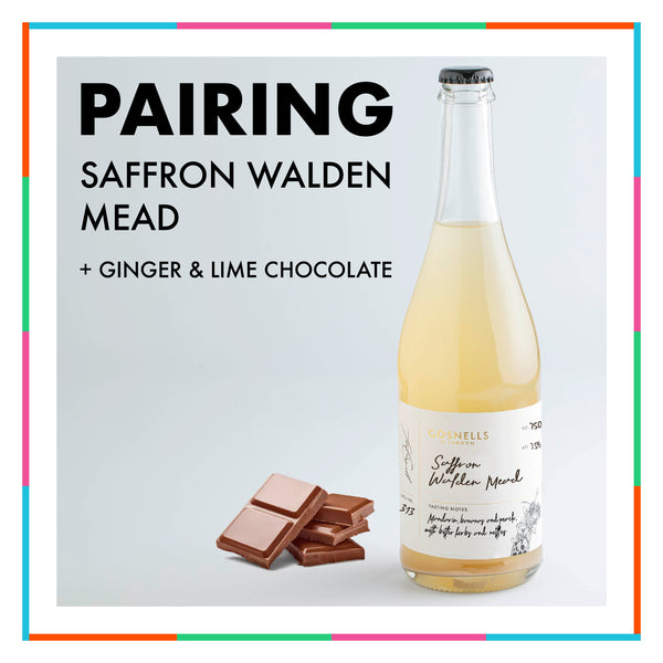 Saffron Walden Mead + Ginger & Lime Chocolate