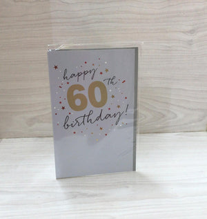 Happy 60TH Birthday Greeting Card ECE1962