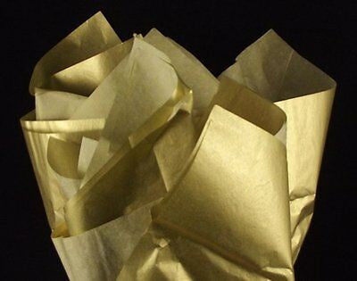 Tissue Wrap 5 Sheets Gold