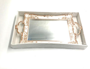 Rectangular Tray White-Gold SD507-6