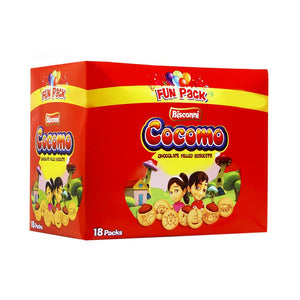 BISCONNI COCOMO CHOC FILLED BISCUITS (18 x 21g)