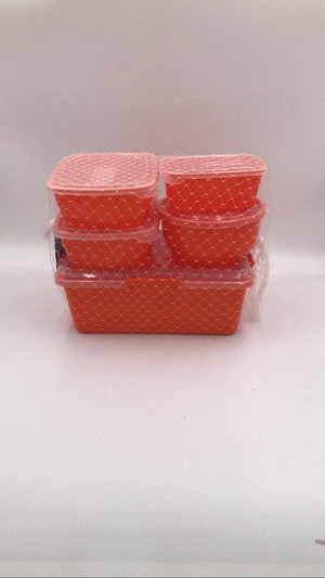 Otima Lock-Snap Set 5 Piece Orange