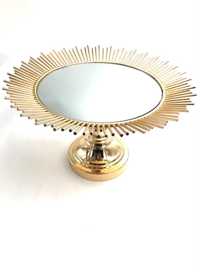 Round Fancy Mirror Cake Stand SD501-5