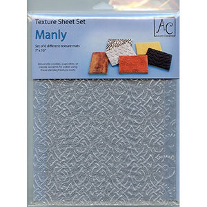 "BAKING MANLY TEXTURE SHEET 7x10"" 6pcs"