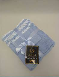 Bristol 3pc Gift Towel Set Powder Blue