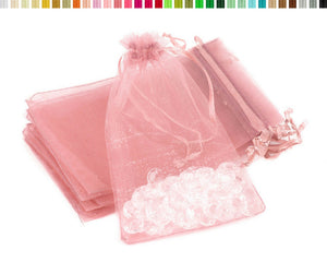 Organza Bags Rose Gold 17x 20cm 10 pcs