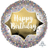 FOIL BALLOON HAPPY BIRTHDAY 45cm 39064