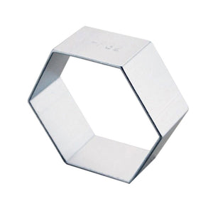 ALUMINIUM COOKIE CUTTER HEXAGON 5cm