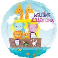 Foil Balloon Welcome Little One 43cm 34460