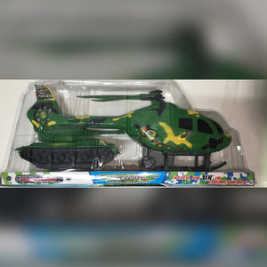 Toy Military Helicopter And Tank