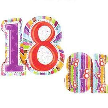 BIG FOIL BALLOON 18TH BIRTHDAY 66cm X 71cm 16063