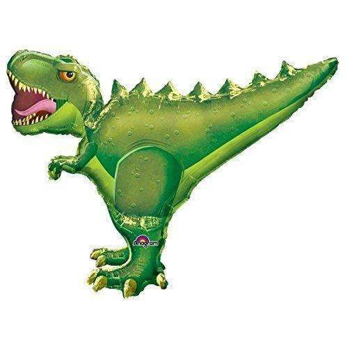 BIG FOIL BALLOON GREEN T-REX 91cm X 76cm 32251