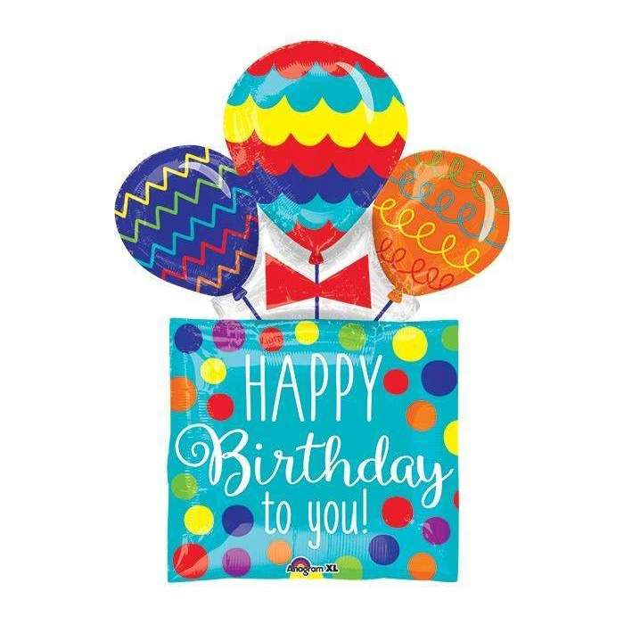 BIG FOIL BALLOON HAPPY BIRTHDAY TO YOU (58cm X 81cm) 35149