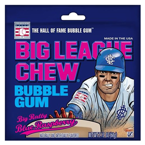 BIG LEAGUE CHEW BIG RALLY BLUE RASPBERRY GUM 60g