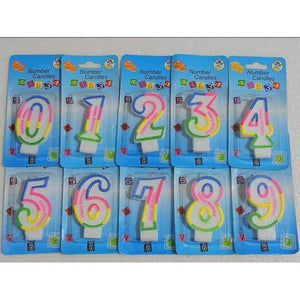 BIRTHDAY NUMBER CANDLE No 0