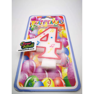 BIRTHDAY NUMBER CANDLE No 4