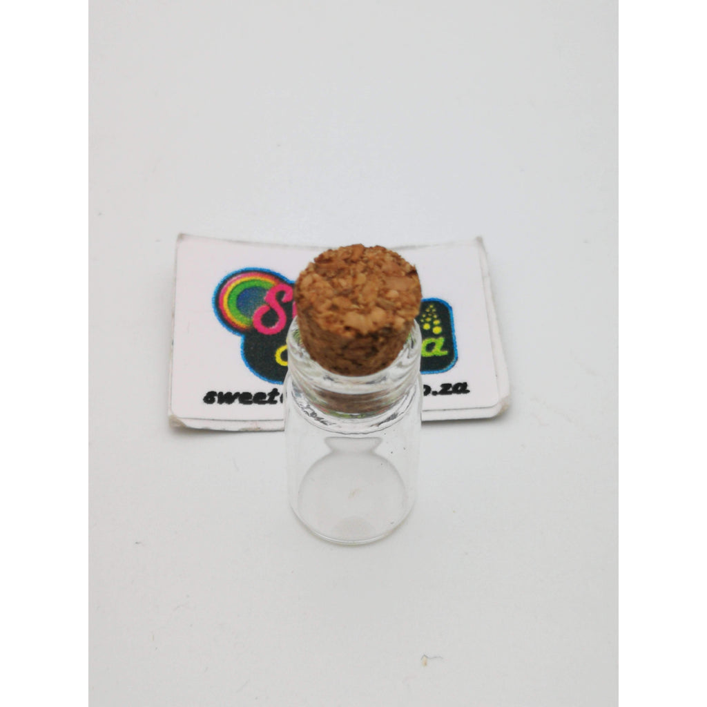 CANDY JAR GLASS 11x22mm CORK LID