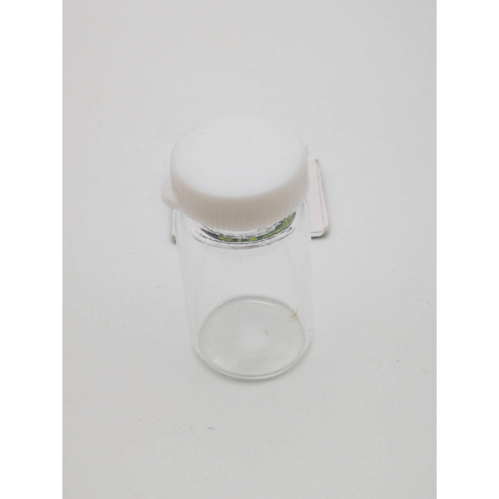 CANDY JAR GLASS 22x40mm WHITE LID