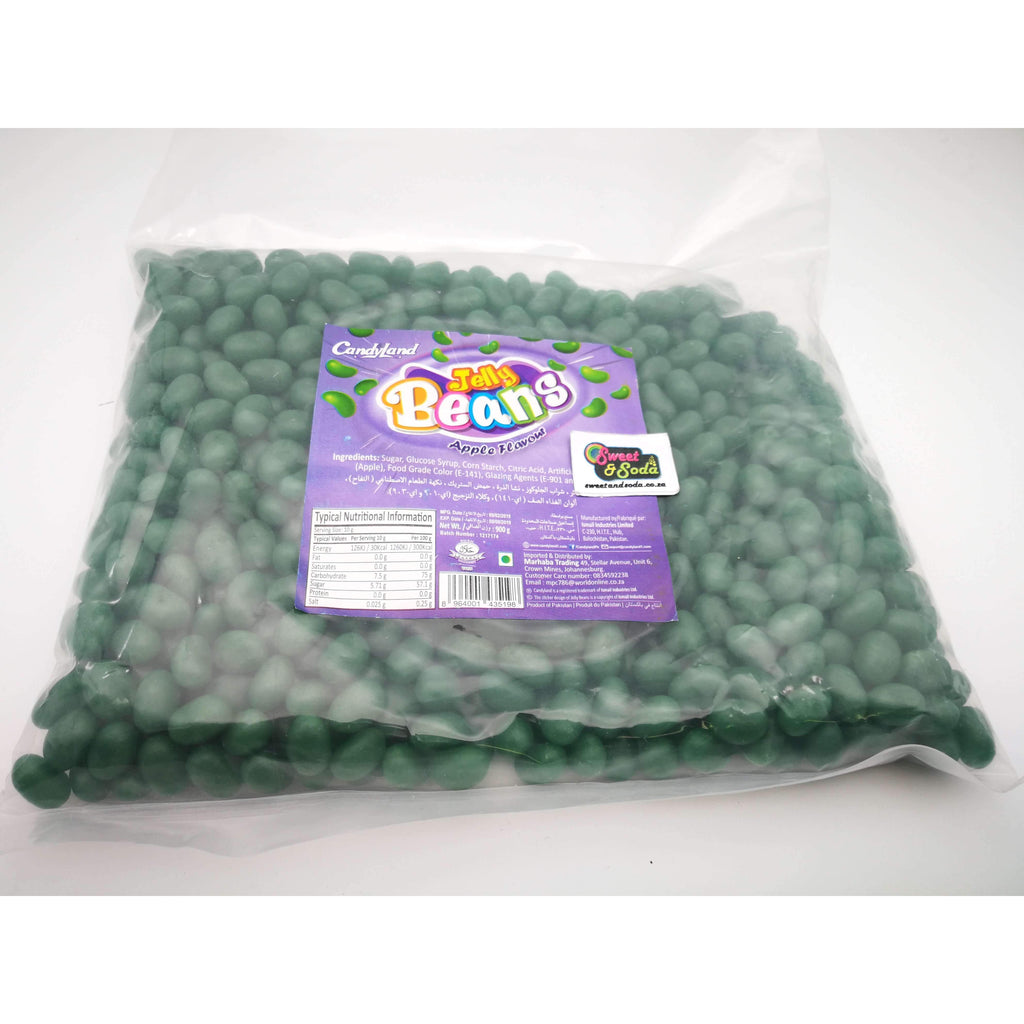 CANDYLAND JELLY BEANS DARK GREEN 900g