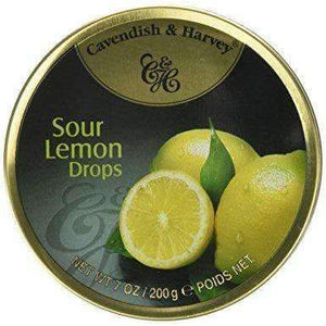 CAVENDISH & HARVEY LEMON DROPS 200g TIN