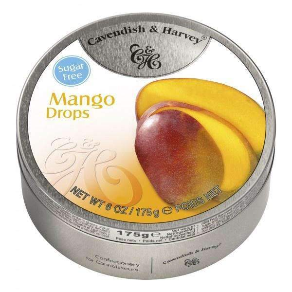CAVENDISH & HARVEY SUGAR FREE MANGO DROPS 175g