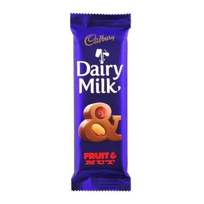DAIRY MILK FRUIT & NUT 80g SLAB