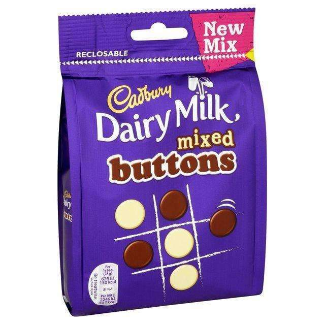 DAIRY MILK MIXED BUTTONS 115g