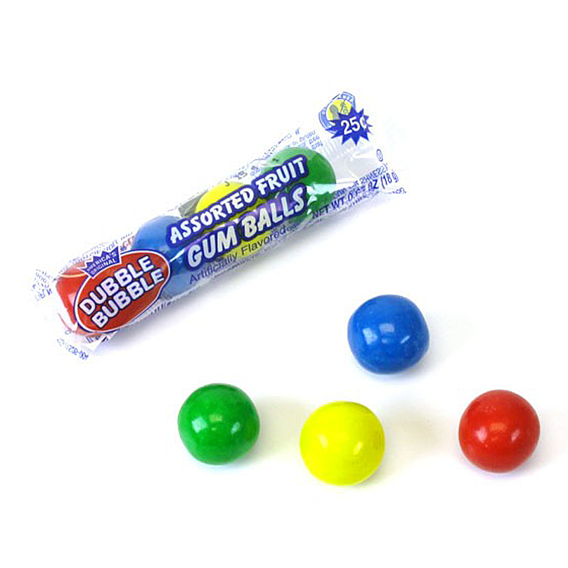 DUBBLE BUBBLE GUMBALLS 4 BALL PACK