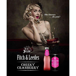 FITCH & LEEDES GLASS CHEEKY CRANBERRY 200ml