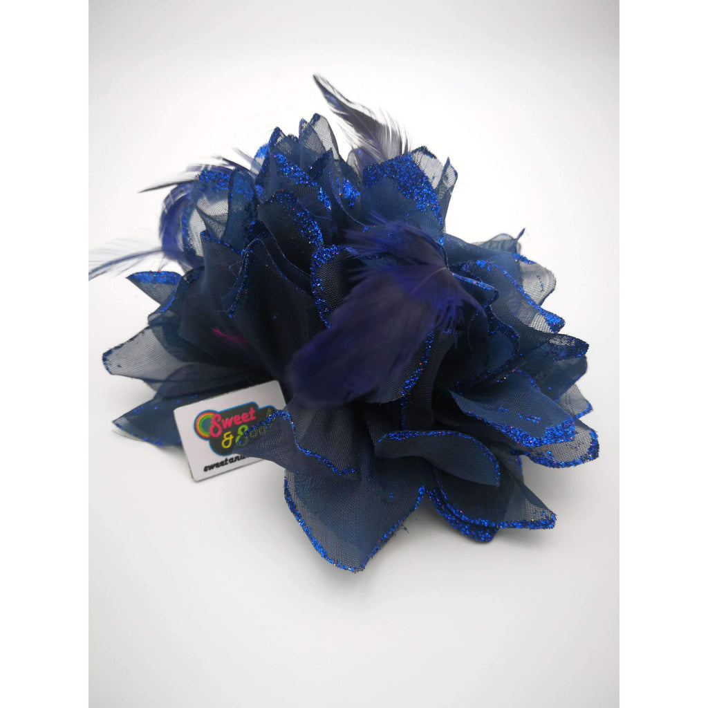 FLORAL CORSAGE NAVY BLUE