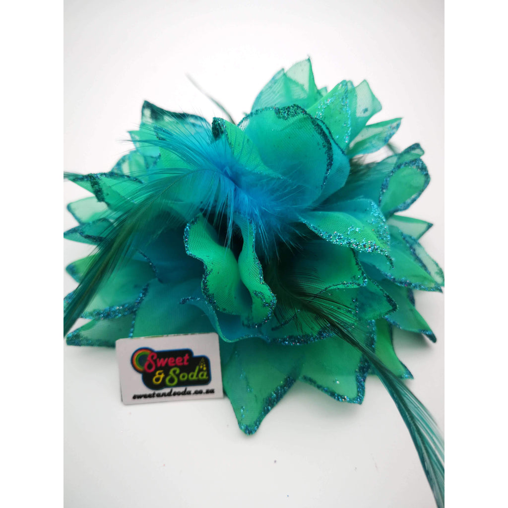 FLORAL CORSAGE TURQUOISE