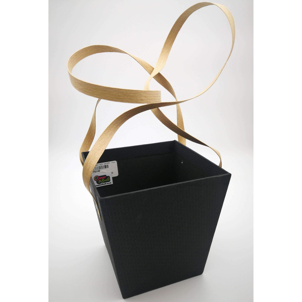 FLOWER BOX SQUARE 14cm x 15cm BLACK