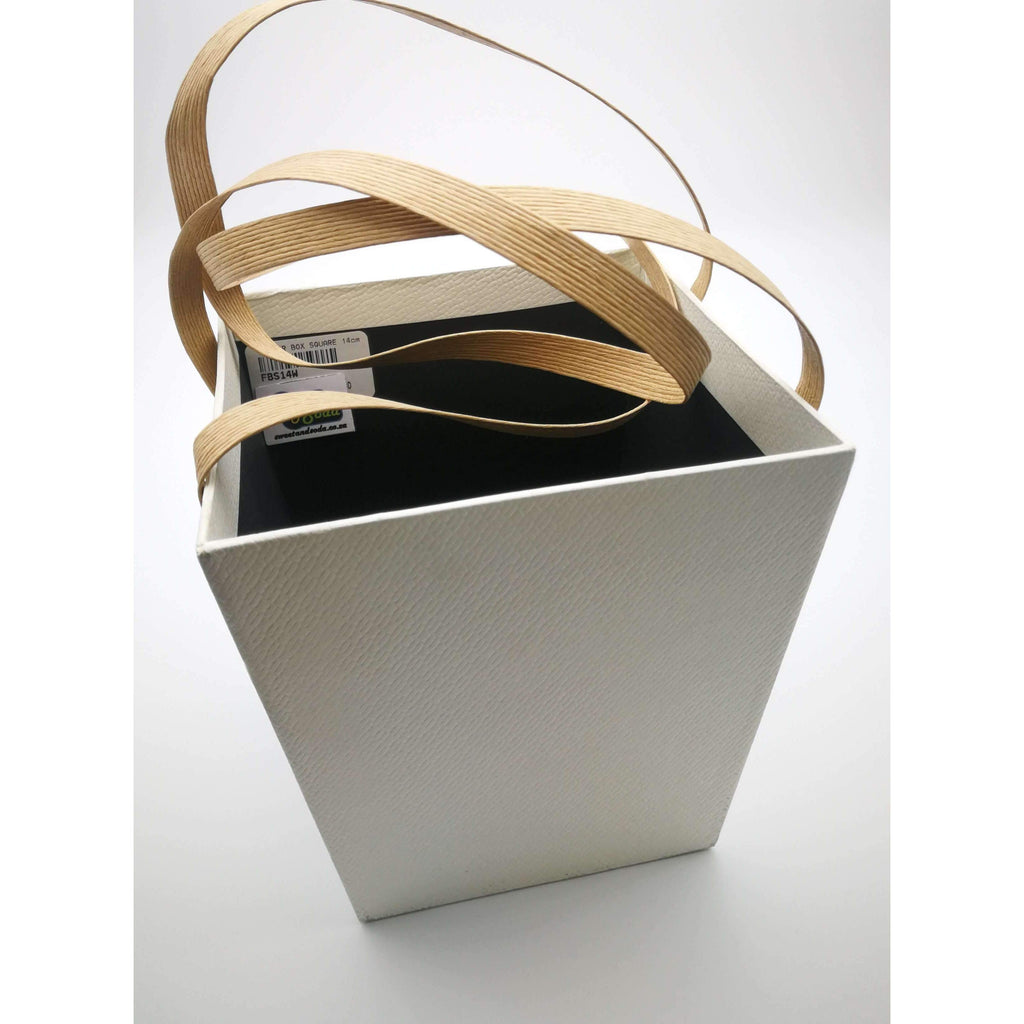 FLOWER BOX SQUARE 14cm x 15cm WHITE