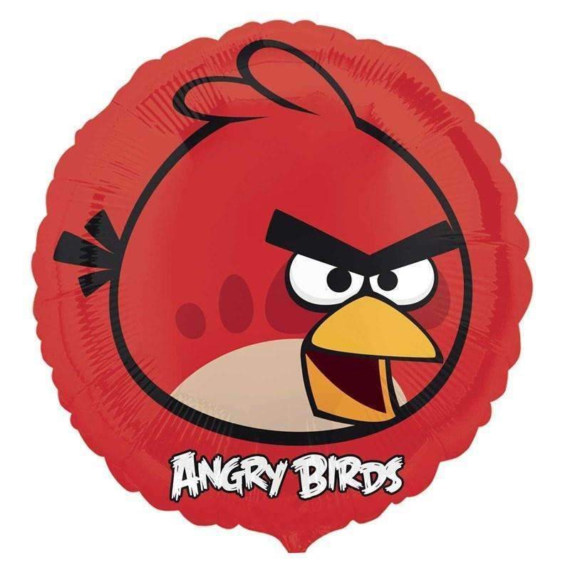 FOIL BALLOON ANGRY BIRDS RED 43cm 25770