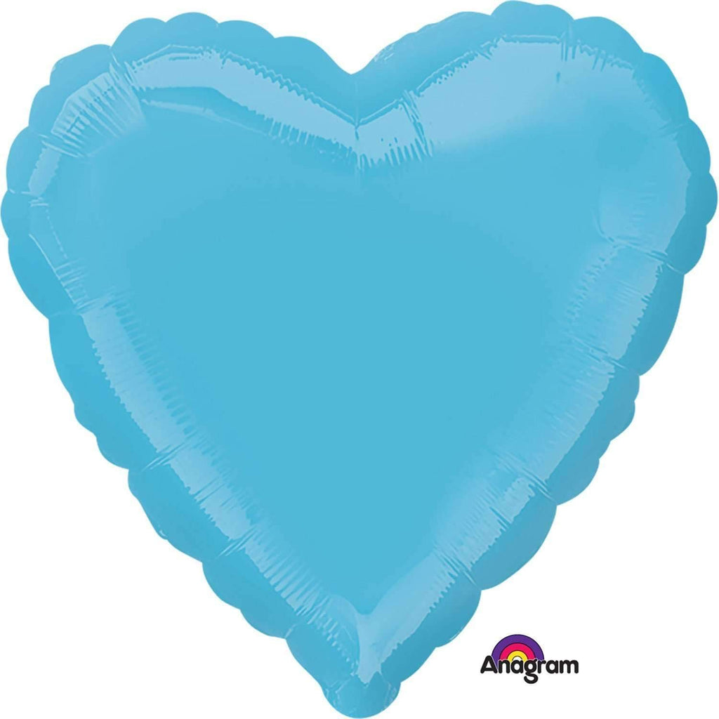 FOIL BALLOON BLUE HEART 43cm 23018