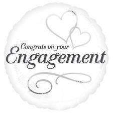 FOIL BALLOON CONGRATS ON ENGAGEMENT 43cm 24548
