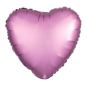 FOIL BALLOON FLAMINGO PINK SATIN HEART 48cm 36822