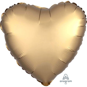 FOIL BALLOON GOLD SATIN HEART 48cm 36803