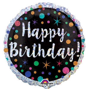 FOIL BALLOON HAPPY BIRTHDAY 45cm 34549