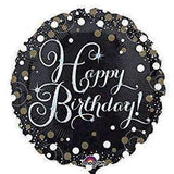 FOIL BALLOON HAPPY BIRTHDAY BLACK 45cm 34062