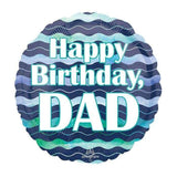 FOIL BALLOON HAPPY BIRTHDAY DAD 43cm 35564