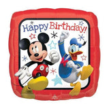 FOIL BALLOON HAPPY BIRTHDAY MICKEY ROADSTERS 43cm 36225