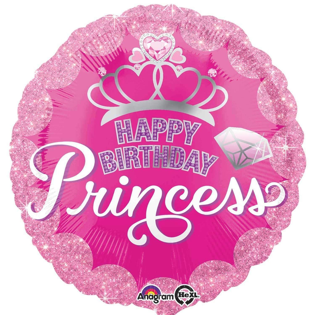 FOIL BALLOON HAPPY BIRTHDAY PRINCESS 43cm 34558